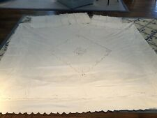 White 100% Cotton And Lace King Duvet And 3 Euro Shams