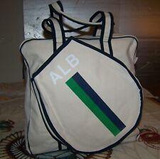 New $325 Parker Thatch Alb Canvas Tennis Racquet Accessory Shoulder Tote Bag #1