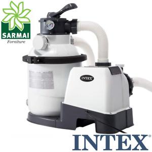 Pompa Intex 26644 filtro a sabbia 4500 l/h a 6 vie per piscina fuori terra timer