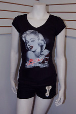 2017 Marilyn Monroe T-Shirt with Rose & Signature & Lip, Short Sleeve 2XL