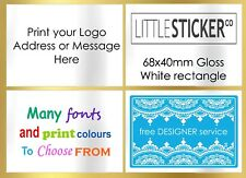 Personalised Address labels and stickers with free designer service x100 LARGE