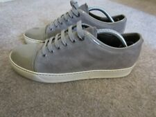mens lanvin   panelled lace-up sneakers  size uk 8