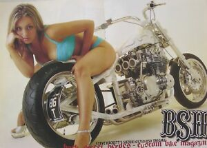 A BSH Magazine Centre-Fold Poster - GS750 GS850 Custom - Sexy Underwear Model