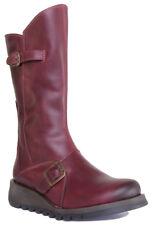 Fly London Mes 2 Women Black Leather Matt Long Boots