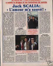 Coupure de presse Clipping 1990 Jack Scalia  (3 pages)