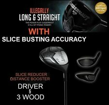 BANNED ILLEGAL DRAW #1 DRIVER & 3 WOOD OFFSET ANTI-SLICE KILLER GRAPHITE STIFF