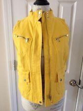 NWT! Women's RLR Lauren Jeans Co. Ralph Lauren Yellow VEST Size SP MSRP $125