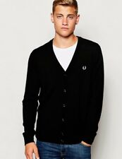 Fred Perry Classic V Neck Cardigan - Black - XS Small Medium Large XL XXL