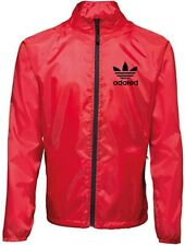 More details for stone roses ian brown tribute adored showeproof bomber jacket red w/ black zip