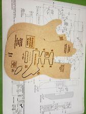 Stratocaster Guitar Router Template w/BluePrints CNC Cut & Laser Engraved
