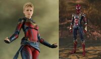 NEW Bandai S.H.Figuarts Captain Marvel Avengers Endgame & Iron spider SET Japan