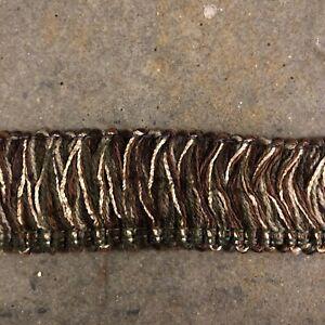 sterling trimming co loop fringe trim 1.5in brown green tan NEW 139.3 yd/418ft
