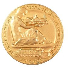 1948 Spain railroad CENTENARY OF THE FIRST RAIL LINE IN SPAIN Bronze-gilt 48mm.