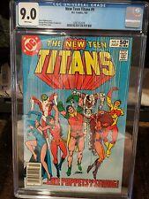 New Teen Titans #9 Cgc 9.0 ,2nd app. DeathStroke the Terminator, new Cgc Holder