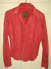 Womens Red Genuine Leather Jacket Size p/m