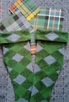 New Ancient Blue and Green Diced Kilt Hose to complement ancient coloured kilt.