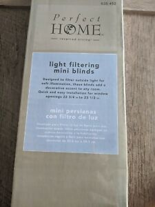 Light Filtering Mini Blinds By Perfect Home 23 x 64 Taupe