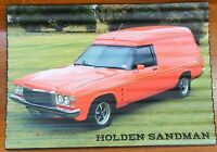 Holden Sandman Corrugated Tin Sign 28.5 cm x 40 cm