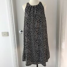 TEMT Size 10 Black & White Sleeveless Shift A-Line Geometric Print Dress EUC