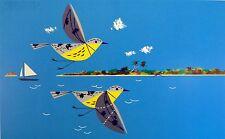 Charles/Charley Harper - Caribbean (Carribean) Cruisers - bird art - COA
