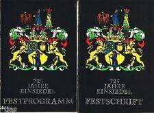 725 ans Einsiedel les monts Métallifères publication commémorative & festprogramm rda 1980