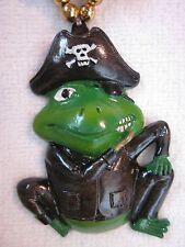 "Scallywag ""Frog Pirate"" Mardi Gras Necklace Gasparilla Patch Hook Peg (B900)"