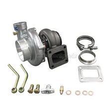 """CXRacing GT35 Turbo Charger T4  .70 .68 A/R + 3"""" Vband Clamp & Flange Kit"""