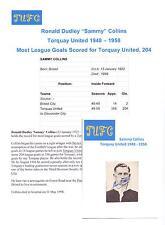 Sammy Collins Torquay United 1948-1958 rare original main signé photo découpe