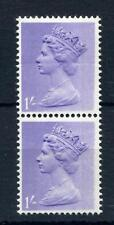 1/- MACHIN UNMOUNTED MINT PAIR + PRINTING ERROR