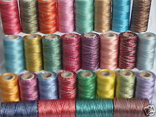 30 Double Shaded Embroidery Thread Spools  30 different Colours