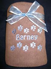 Personalised Embroidered Pet Dog Puppy Cat Kitten Fleece Blanket