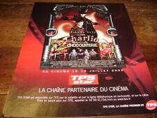 JOHNNY DEPP - Publicité de magazine FILM CHARLIE & LA CHOCOLATERIE !!!!!!!!!!!