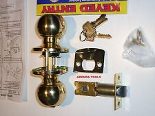 ENTRANCE DOOR LOCK WITH 3  KEYS -GOLD COLOUR- NEW IN BOX