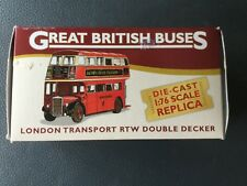 Die Cast 1:76 Scale replica London Transport RTW Double Decker Bus.new boxed.