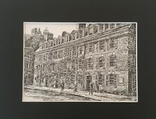 Yale University - Connecticut Hall - Vintage Matted Art Print