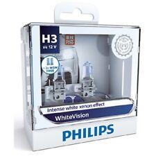 Philips H3 White Vision Intense Xenon White Light Globe Pair 12v 55w PK22s