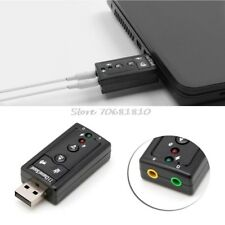 ✓ CARTE SON USB EXTERNE CANAUX 7.1 3D JACK 3.5MM MICRO CASQUE WINDOWS MAC LINUX