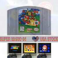 Super Mario 64 Video Game Cartridge Console Card Version For Nintendo N64 US
