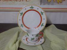 Kaffeegedeck 3teilig Tasse-Unterteller-Kuchenteller Verso Porzellan Provence