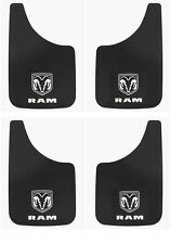 4 PK Dodge Ram Logo 11x19 Inch Mud Flaps Splash Guards for Truck SUV Van and Car