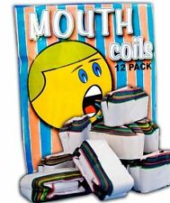 25' RAINBOW MOUTH COILS 12 Pack Paper Streamer Magic Trick Clown Set Multi Color