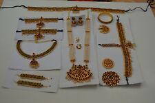 10 pcs pearl and kemp stone temple Indian bridal Bharatnatyam, Kuchipudi jewlery