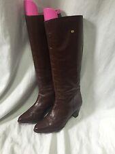 Vintage Lottusse Womens Knee Booties 6.5/37 Riding Leather Equestrian Shoe Heels