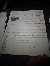 Ancien Papier à entète Citerne à Camion Chaudronnerie Ets N Lebel Pantin