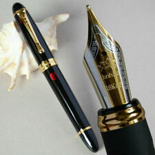 Jinhao X450 Black with Fireworks Fountain Pen 0.7mm Broad Nib 18KGP Golden Trim