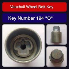 "Genuine Vauxhall Locking Wheel Bolt / Nut Key 194 ""Q"""