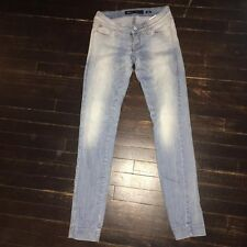 Miss Sixty Skinny Jean Light Wash Fashion Designer Jean SZ 23 24