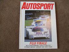 Autosport 9 October 1986 Fuji 1000 Bathurst Jaguar XJ40 Jean Todt Elkhart CART