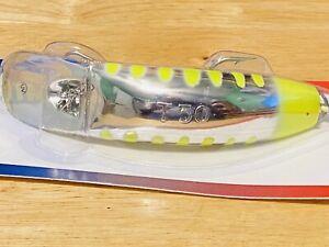NIP Discontinued Worden's Flatfish T-50 Chrome Chartreuse Kwikfish Lure Plug