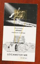 LEICAMETER MR BROCHURE, 1964, 6 PAGES/133030